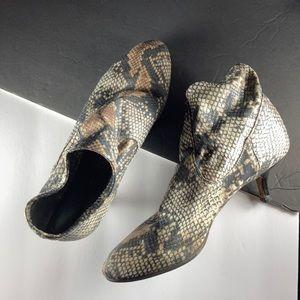 Donald Pliner Snakeskin Sock Boot, Kitten Heel